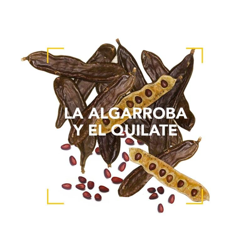 Las semillas de la algarroba y el quilate